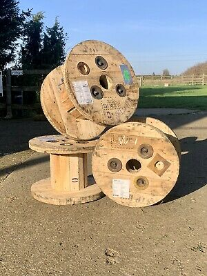 Small Wooden Cable Reel / Drum / Spool Upcycled Industrial • 12.50£