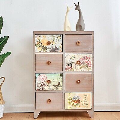 Cherry Tree Furniture NOLA Vintage Country Style Wooden Cabinet Chest Drawers • 119£