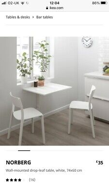 Ikea Bar Stool + Cushion & 2 X Folding Tables Excellent Condition • 50£