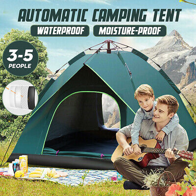 AU42.74 • Buy Automatic Quick Open Camping Hiking Outdoor Tent Waterproof 3-5 Persons AU