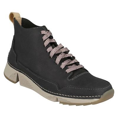 Tri Free Ladies Clarks Leather Casual Lace Up Ankle Boots Hi Top Walking Trainer • 84.99£