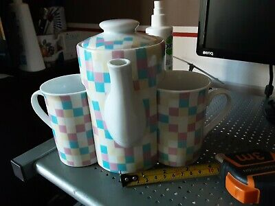 Regal Spencer Fine China Collection 1 Pint Tea/ Coffee Pot And Two Cups • 9.99£