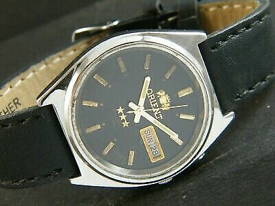 $ CDN35.57 • Buy VINTAGE ORIENT CRYSTAL AUTOMATIC JAPAN MEN'S DAY/DATE WATCH 374q-a189481-9