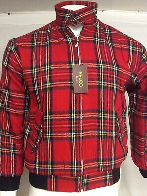 Relco Red Tartan Harrington Jacket, Mod, Skinhead, Ska, Punk, Retro • 10£