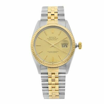 $ CDN6776.38 • Buy Rolex Datejust 18K Yellow Gold Steel Champagne Dial Automatic Mens Watch 16013