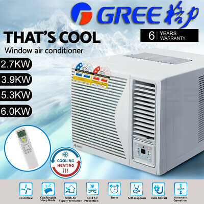AU882.03 • Buy Gree 2.7-6.0kw Window Wall Box Air Conditioner Fan Cooler Heater Reverse Cycle