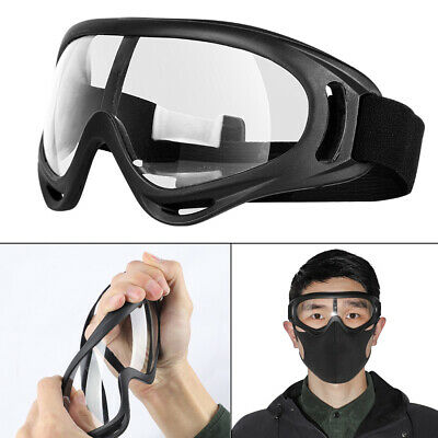 AU19.59 • Buy Safety Goggles Anti-Fog Glasses Eye UV Protection For Lab Work Dust Proof Clear