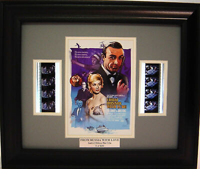 007 From Russia With Love Framed Film Cell Sean Connery • 19.53£