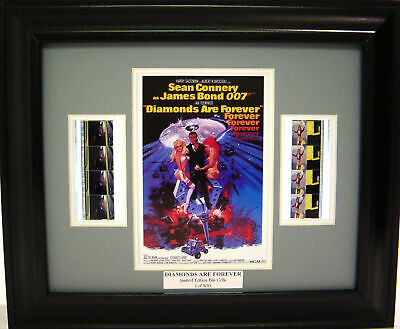 007 Diamonds Are Forever Framed Film Cell Sean Connery • 19.53£