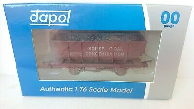 DAPOL 4F-034-006 House Coal CONC 21T Hopper Wagon Weathered NEW • 9.95£
