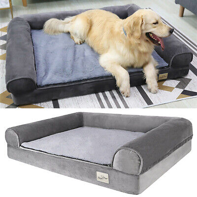 Jumbo XXL Memory Foam Dog Bed Pet Cuddler Couch Lounge Waterproof Washable Cover • 65.97£