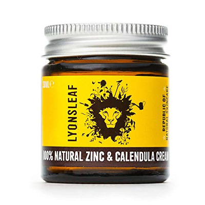 Zinc And Calendula Cream 100% Natural - For Spots, Blemishes, Breakouts, Rashes, • 13.49£