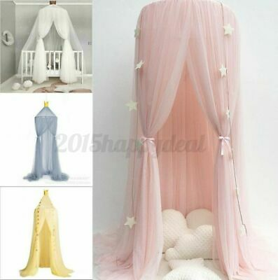 Kids Baby Girls Dome Bed Canopy Tent Mosquito Bedcover Curtain Bedroom Netting • 15.57£