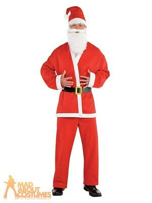 £8.99 • Buy Adult Santa Claus Crawl Costume Father Christmas Mens Xmas Fancy Dress Outfit
