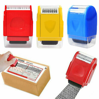 ID Theft Protection Stamp Roller Guard Your Data Identity Security Privacy Tool • 4.13£