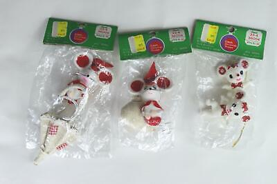 $ CDN18.92 • Buy Vintage Lot Of 4 Made In Japan Christmas Ornaments White Mice Flocked