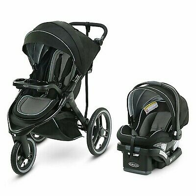 Graco FitFold Jogger Travel System With Car Seat Set • 281.48£