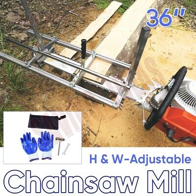 Aluminum Steel Chainsaw Mill For Saws 18 -36  Bar Slabbing OR Planks Equipment • 79.98£
