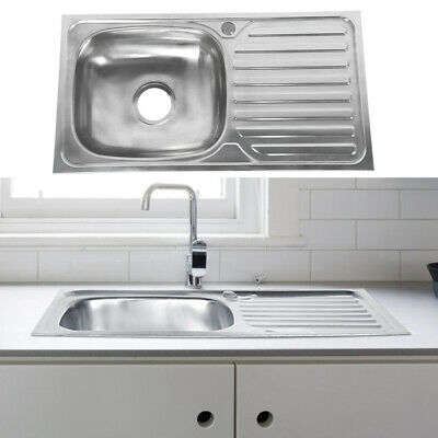 Stainless Steel Kitchen Sink Commercial Catering Single Double Bowl Drainer • 26.99£