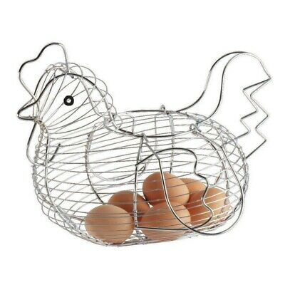 Chrome Wire Plated Egg Storage Chicken Egg Hen Basket Kitchen Holder Rack Holder • 9.52£