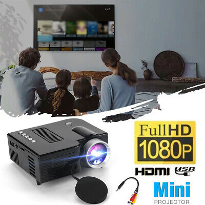 Full HD 1080P Multimedia Movie Home Theater Cinema Portable Video AV USB Mini • 23.69£