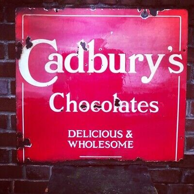 £325 • Buy Vintage Original Cadburys Chocolate Sign
