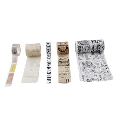 $ CDN8.29 • Buy Masking Washi Tape Stickers Decor Ticket Handbook Scrapbooking Masking Tape YS