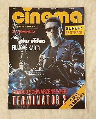 Czech Magazine Cinema , March 1992, Arnold Schwarzenegger + Terminator Poster  • 22£