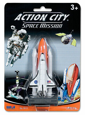 Action City Space Mission 3  Space Shuttle On Launch Pad Toy Model • 6.14£