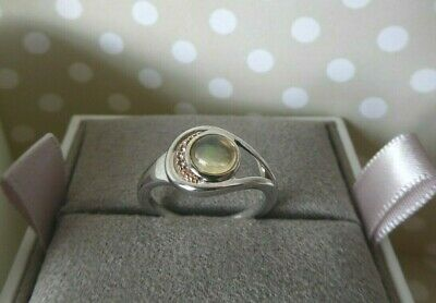 Clogau, Silver & Rose Gold Serenade Opal Ring Size M 1/2 RRP £149 • 59£