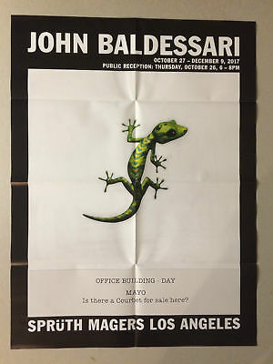 JOHN BALDESSARI.  Private View Invitation / Folded Poster 2017. • 21.99£