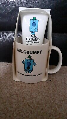 Mr Men Mr Grumpy Coffee Tea Cup Mug 2018 Plus Shower Wash Gift Set • 19.99£