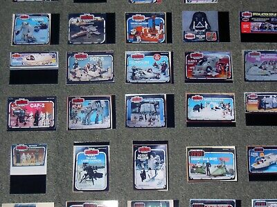 $ CDN23.85 • Buy STAR WARS 96 X LOT,SET,DISPLAY CARDS OF VINTAGE TOYS,SHIPS,VEHICLES + FIGURES.14
