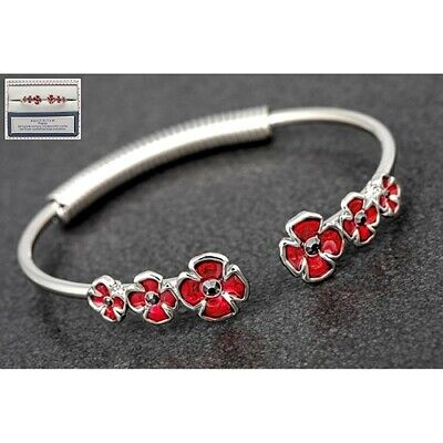 Poppy Open Bracelet Poppies Equilibrium Silver Plated Jewellery Gift Boxed  • 15.99£