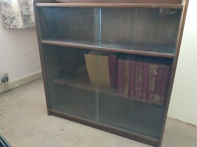 Bookcase With Sliding Glass Doors • 40£