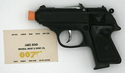 Vintage 1960s James Bond 007 Walther PPK Toy Cap Gun Pistol • 70£