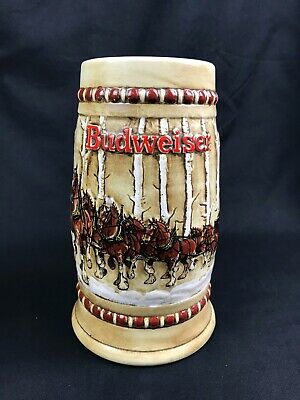 $ CDN174.04 • Buy 1981 Budweiser CS50 Snowy Woodland Birch Trees Clydesdales Holiday Stein Ex Cond