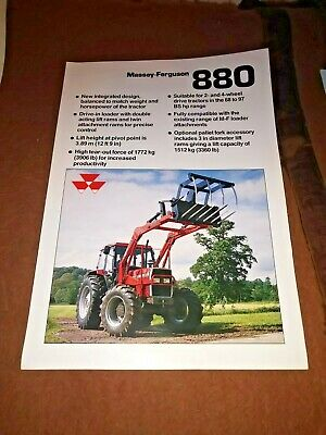 AU9.97 • Buy Massey Ferguson Tractor Front End Loader 880 Sales Brochure 2 Pages 1987