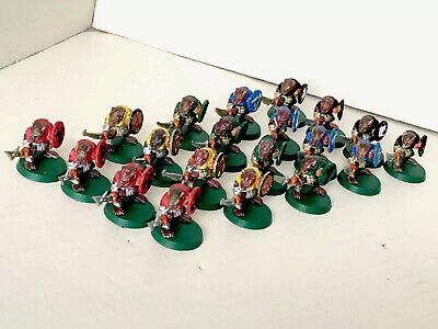 20 X Skaven Clan Rats Warhammer Figures Painted Plastic With Shields Swords • 13.99£