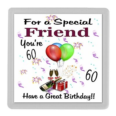 Special Friend Birthday Gift Drink Coaster Friendship Gifts 60th 50th 40th 65th • 3.99£