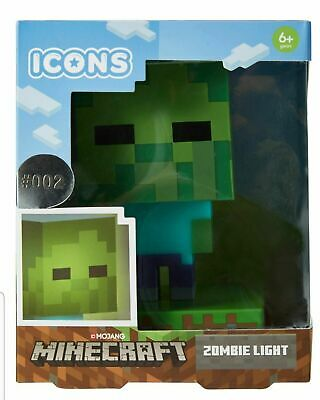 AU29.95 • Buy Minecraft Icons Zombie Light - Ages 6+ Mine Craft Lamp Kids Game NEW
