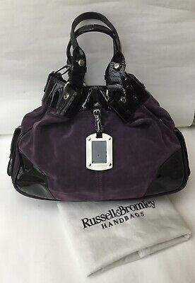 Russell & Bromley Suede & Patent Leather Bag In Immaculate Condition • 80£