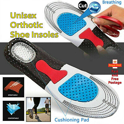 Orthotic Shoe Insoles For Arch Support Plantar Fasciitis Flat Feet Heel Pain • 2.99£