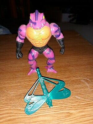 $18.99 • Buy Vintage Motu Masters Of The Universe Tung Lashor With Dragonfly Shield Snake Men