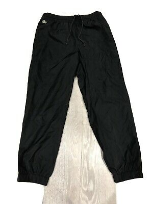 Mens Lacoste Classic Black Tracksuit Bottoms 3 S Small • 45£