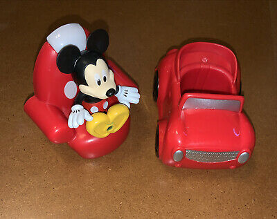 £14.48 • Buy Disney Junior Mickey Mouse Posable Figure, Red Sports Car & Chair Just Play