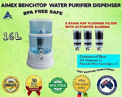 AU115 • Buy 8 Stage Water Filter Purifier Bench Top Dispenser With 3 FLUORIDE WATER FILTERS