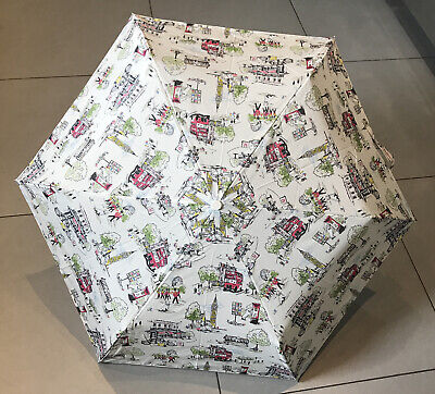 Cath Kidston Minilite Umbrella Billie Goes To Town With Dog Handle (by Fulton) • 21.50£