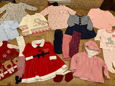 Girl 0-3 Months Clothes Bundle With Christmas Outfits  • 10.50£