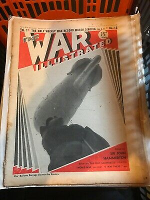 £65 • Buy  'The War Illustrated Magazine' 115 WW2 Editions 1939 - 1945